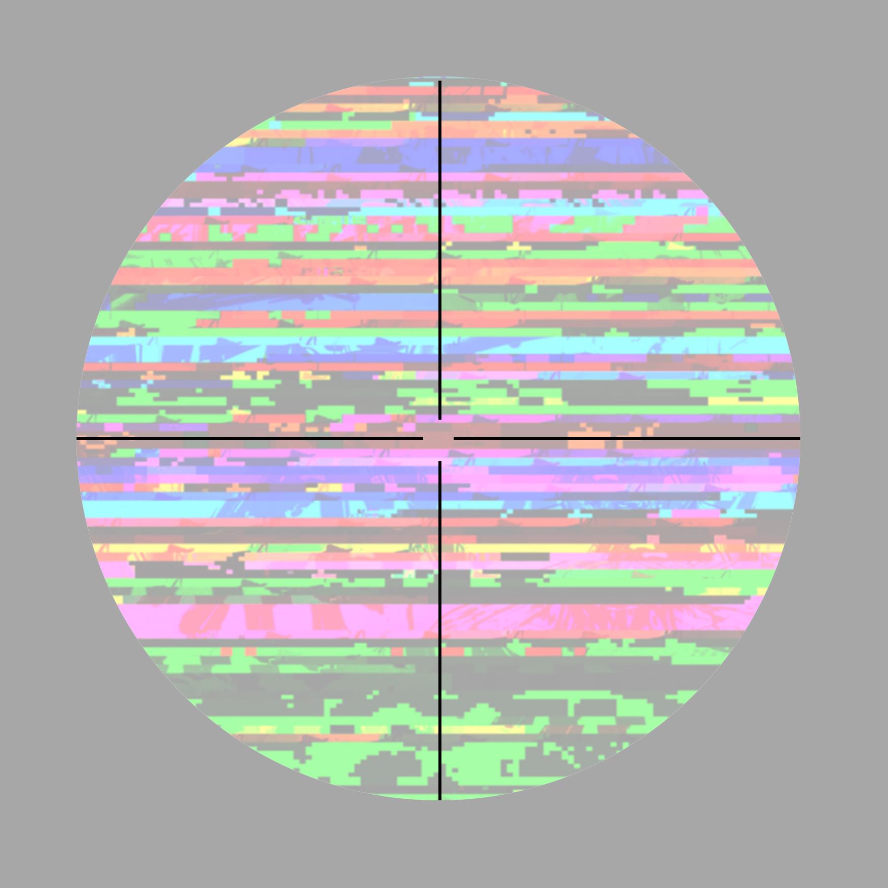 Ling-lin Ku, Vanishing Point, 2021. Folded Pixelated/glitched Digital Prints. Courtesy Of The Artist.