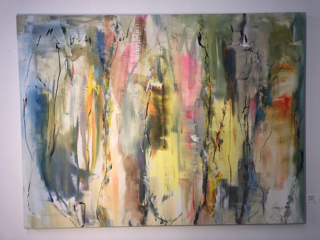4. Claudia Concha, Buscando Puertas, 2018. Acrylics on canvas. 51x68 inches. Courtesy of the artist.